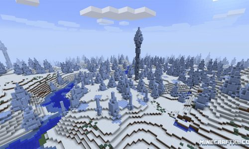 Ice Spikes Seed for Minecraft 1.8: 85490543201