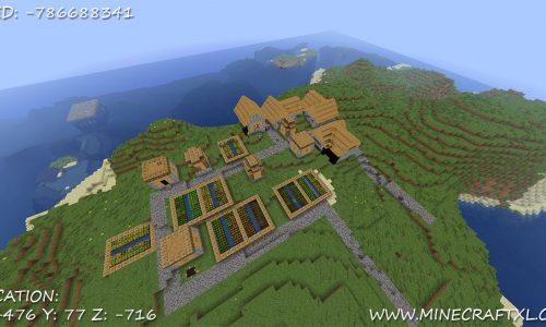 Minecraft Island Village Seed: -786688341