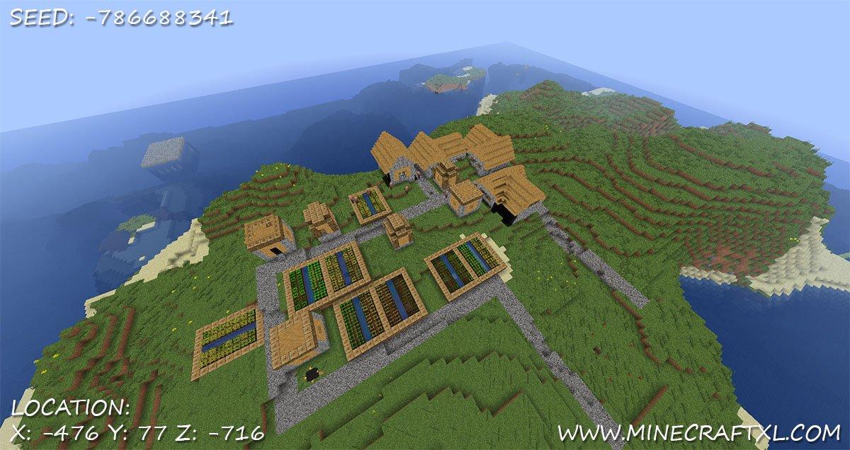 Minecraft village seed 1376117 2 minecraft village seed 2 diamonds