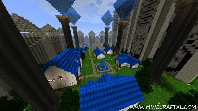 Kingdom of the Sky Map for Minecraft
