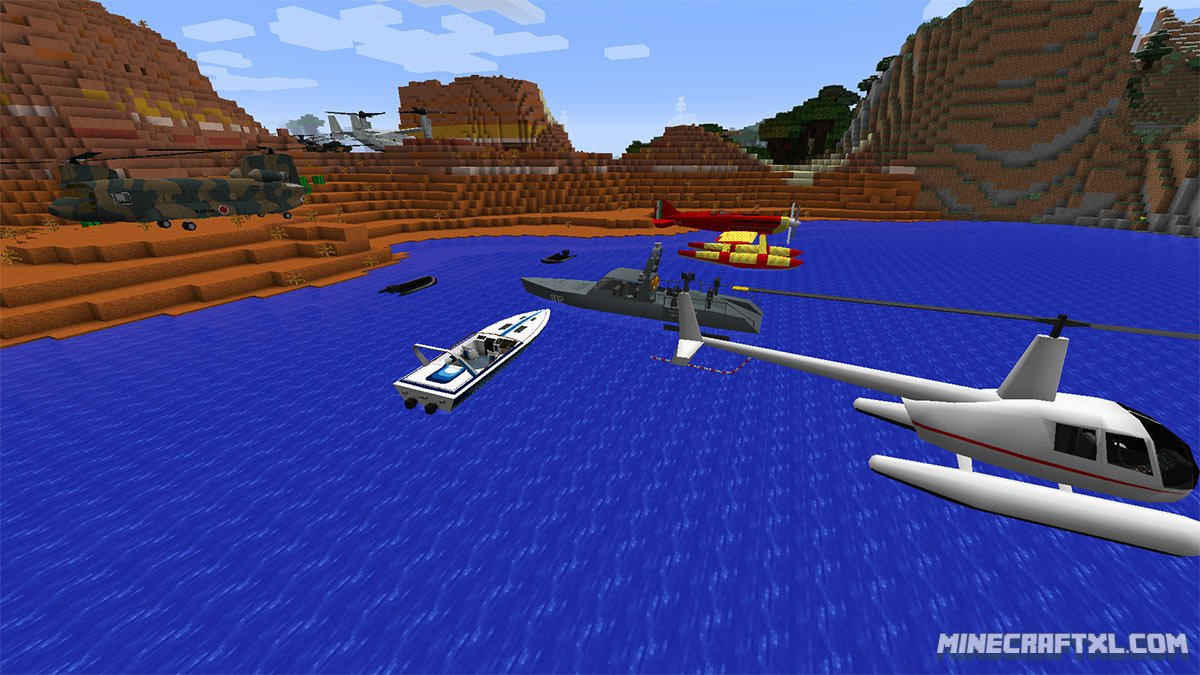 мод на вертолет на майнкрафт 1.0 #4