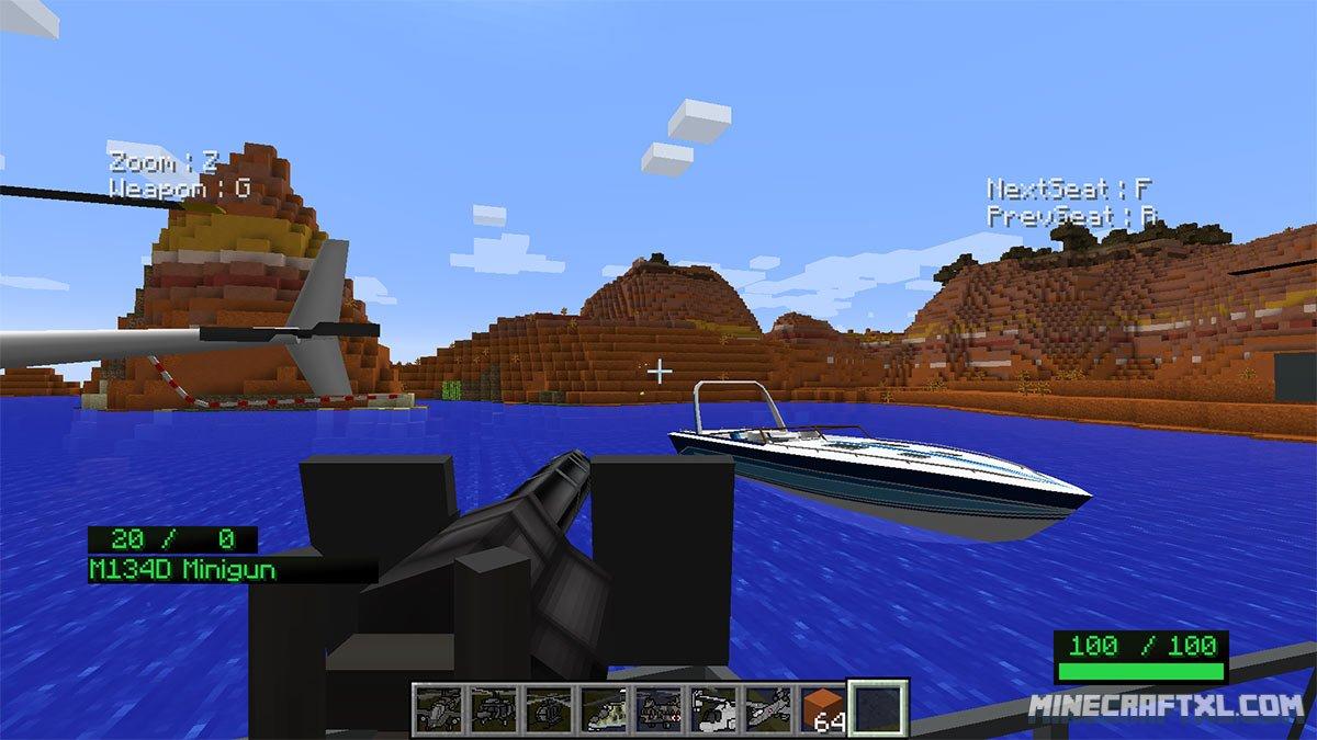 Скачать мод Mc Helicopter для Minecraft 1.7.10