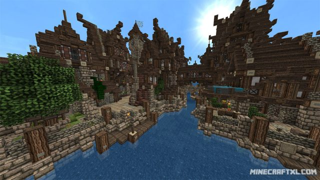 Minecraft Medieval City Download Medieval Village Map D...