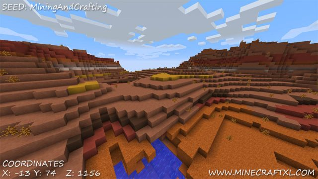 Savannah Plateau and Mesa seed for Minecraft