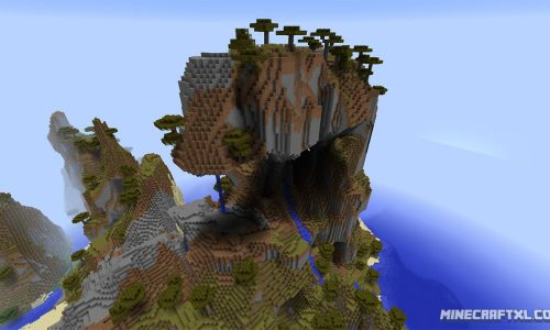 Mountain Island Seed for Minecraft 1.8