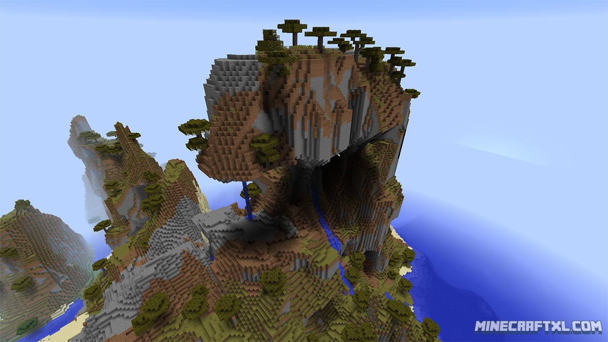 Minecraft   Jungle Mountain Islands Seed