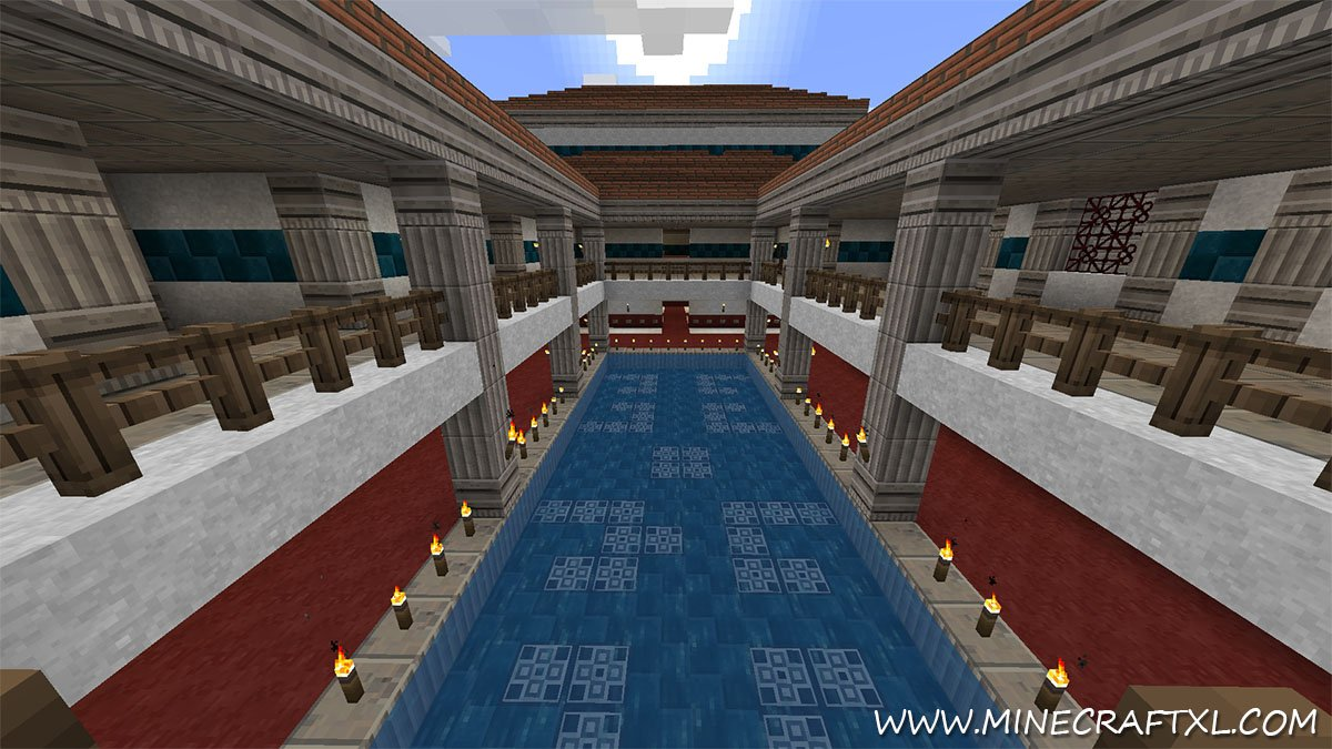 Roman City CreativeSurvival Map Download For Minecraft - Rome map download
