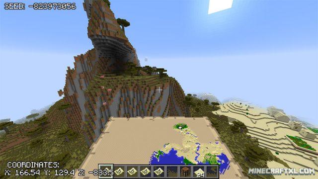Minecraft Triple Desert Villages Seed: -823973056