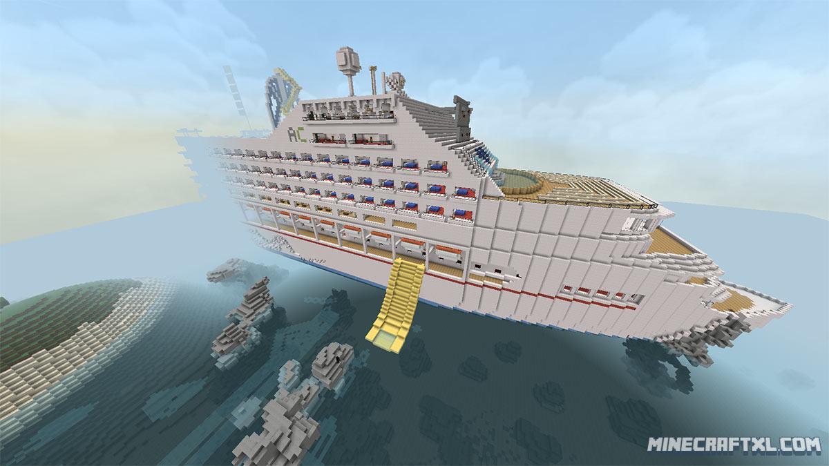 корабль в майнкрафт карта того, именно этой