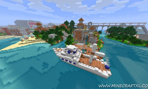 Vertoak City Map for Minecraft 1.8/1.7/1.6