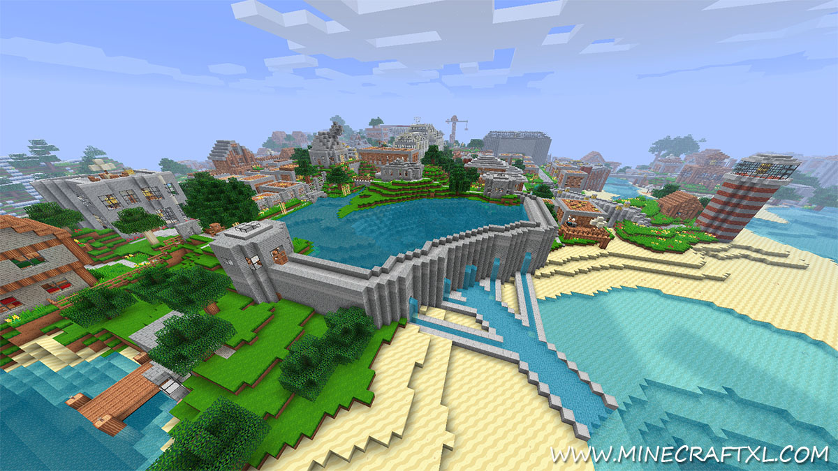 Vertoak City Map Downloadfor Minecraft - Maps fur minecraft 1 10