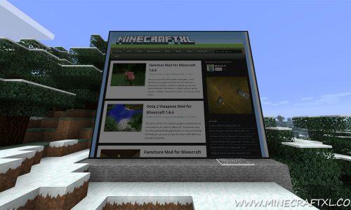 Web Displays Mod for Minecraft 1.7/1.6