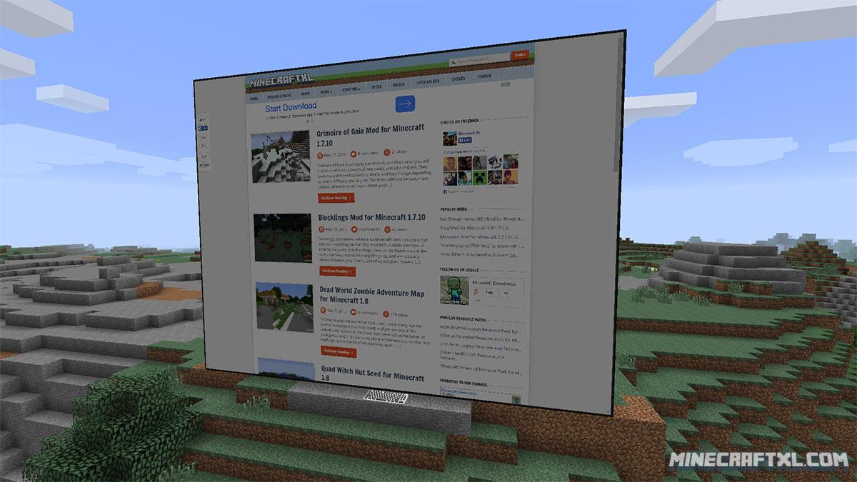 Моды на майнкрафт 1.7.10 web displays