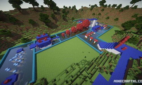 Wipeout Map for Minecraft 1.7/1.6