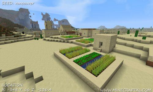 Minecraft Desert Village Seed: vancouver