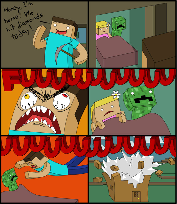 Funny Minecraft comic