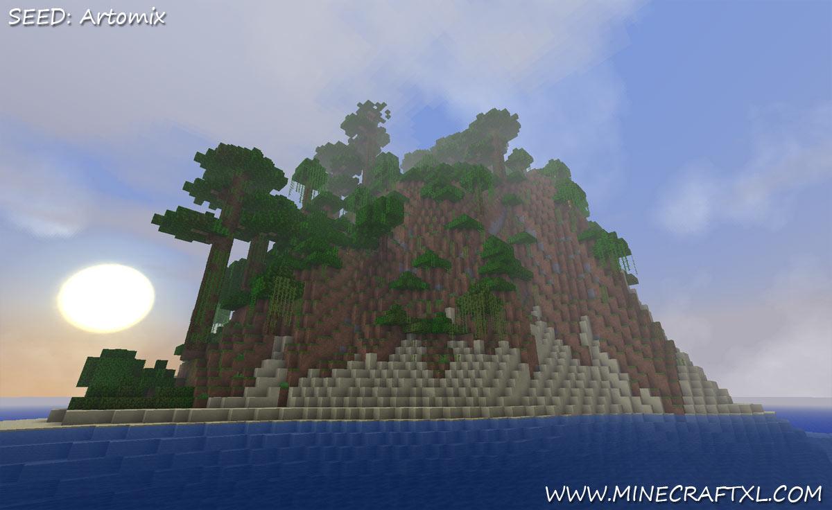 Minecraft Giant Survival Island Seed Artomix