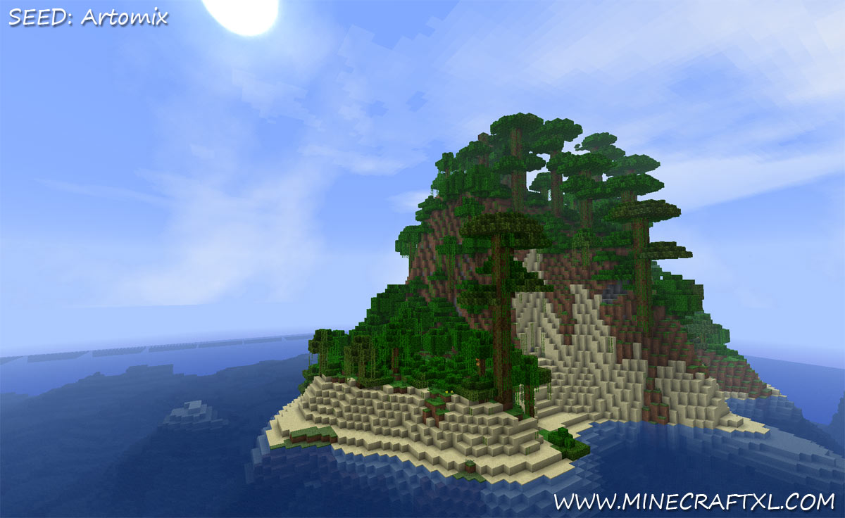 Minecraft Pocket Edition Seeds Survival Island Idea Gallery Artomix C1 Giant Seed On Steroids