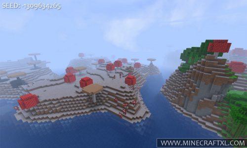 Minecraft huge red mushroom biome seed