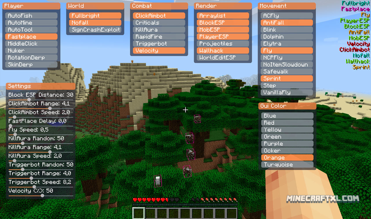 Matix Minecraft Hack | Download for Minecraft 1 9