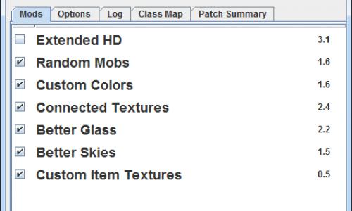 MCPatcher HD Fix Mod for Minecraft 1.8/1.7