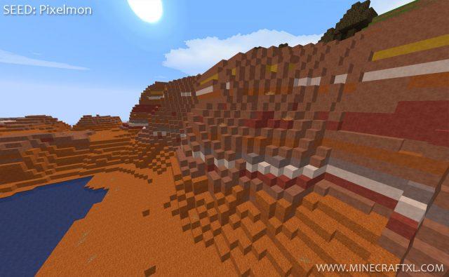 Minecraft 1.7.2 Mesa Biome Spawn Seed: Pixelmon