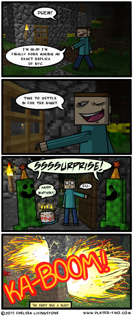 Minecraft Comic - Steves Birthday