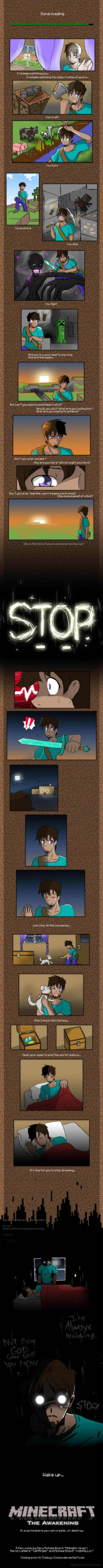 Minecraft Comic - The awekening