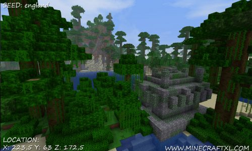 Minecraft Jungle Temple Seed: england