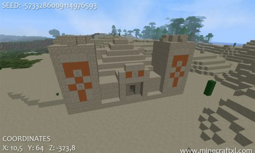 NPC Village and Pyramid 1.6.4/1.6.2 Seed: -5733286009114976593