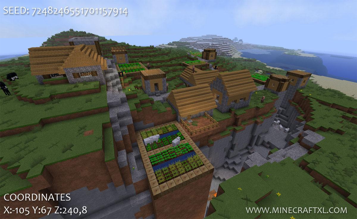 Minecraft 1 6 2 village seed 7248246551701157914 minecraft xl