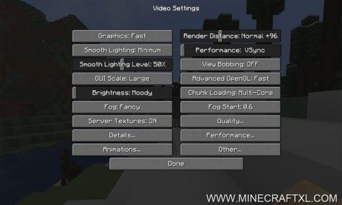 OptiFine HD FPS Boost Mod for Minecraft