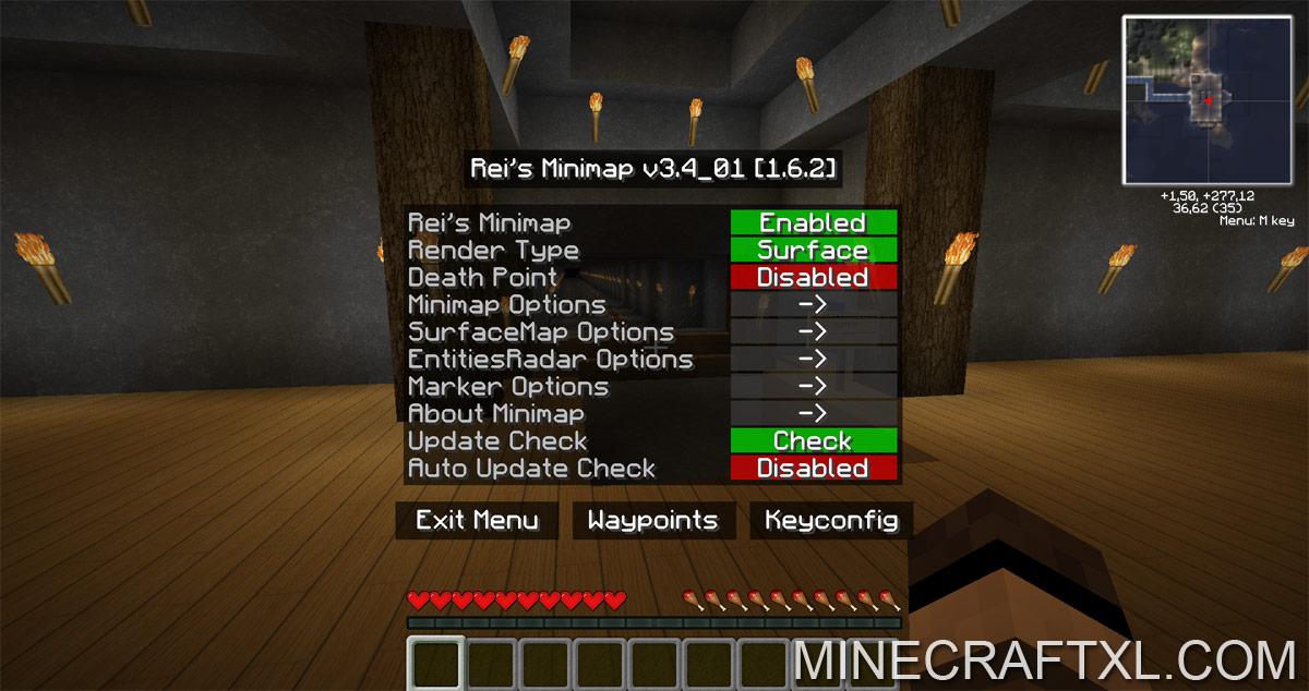 Скачать rei s minimap для minecraft 1.5.2