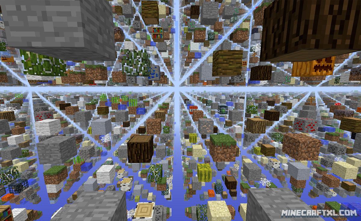 minecraft pe skygrid map