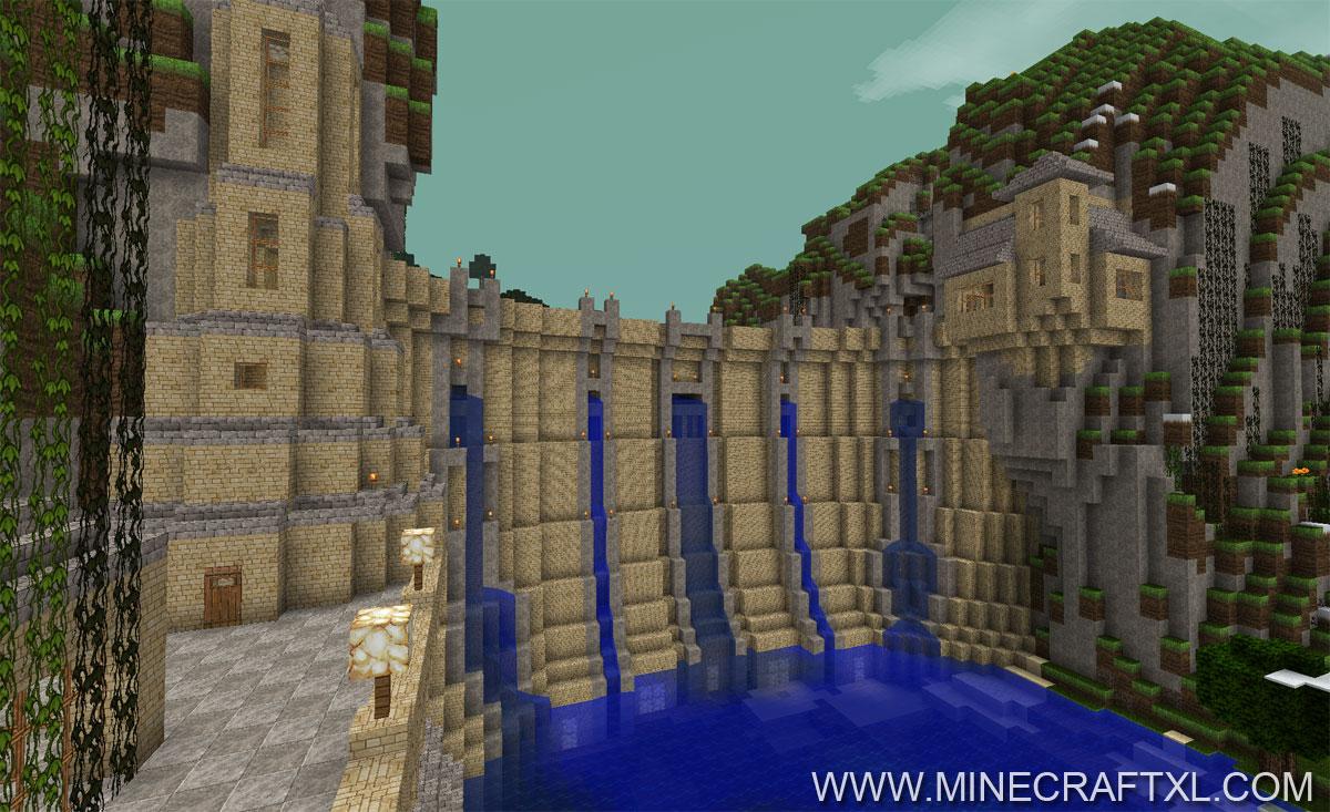 Minecraft River Dam Map - Staudamm for Minecraft 1 6 2 - MinecraftXL