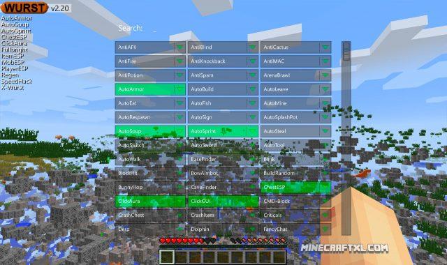 Wurst Client Minecraft Hack