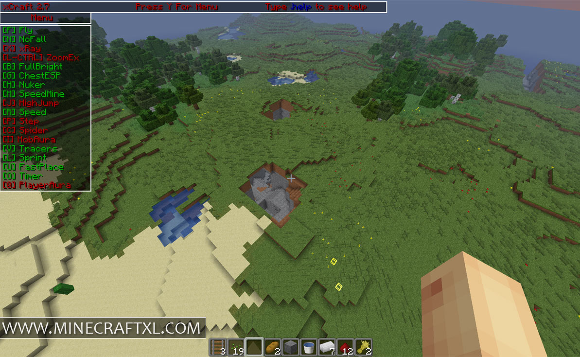 xCraft 2.7 Download Minecraft 1.6.2 Hacked Client